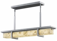 Justice Design ALR-7610W-NCKL Alabaster Rocks! Monolith Modern Brushed Nickel LED Exterior Island Light Fixture