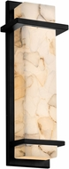Justice Design ALR-7612W Alabaster Rocks! Monolith Contemporary LED Outdoor Light Sconce