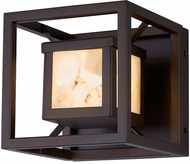 Justice Design ALR-7620W Alabaster Rocks! Bayview Modern LED Exterior Lighting Sconce