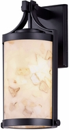 Justice Design ALR-7664W Alabaster Rocks! Cypress Contemporary Exterior Wall Light Fixture