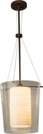 Justice Design ALR-8010 Alabaster Rocks! Amani Contemporary Pendant Light