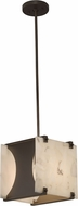Justice Design ALR-8030 Alabaster Rocks! Euclid Modern Mini Lighting Pendant