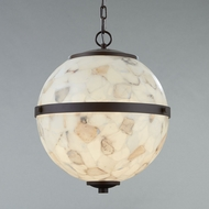 Justice Design ALR-8040 Alabaster Rocks! Imperial Modern LED Pendant Lighting