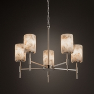 Justice Design ALR-8410 Union Alabaster Rocks! Chandelier Light