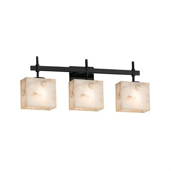 Justice Design ALR-8413 Alabaster Rocks! Union Contemporary 3-Light Bathroom Light