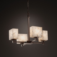 Justice Design ALR-8420 Tetra Alabaster Rocks! Mini Chandelier Lighting