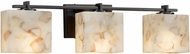 Justice Design ALR-8443 Alabaster Rocks! Era Modern 3-Light Bathroom Light