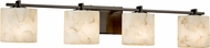 Justice Design ALR-8444 Alabaster Rocks! Era Contemporary 4-Light Bathroom Lighting Fixture