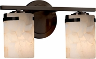 Justice Design ALR-8452-10 Alabaster Rocks! Atlas Modern 2-Light Vanity Lighting