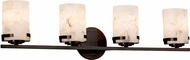 Justice Design ALR-8454-10 Alabaster Rocks! Atlas Modern 4-Light Bath Light Fixture