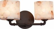 Justice Design ALR-8462 Alabaster Rocks! Bronx Modern 2-Light Lighting For Bathroom