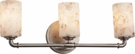 Justice Design ALR-8463 Alabaster Rocks! Bronx Contemporary 3-Light Bath Lighting