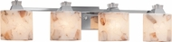 Justice Design ALR-8474 Alabaster Rocks! Ardent Contemporary 4-Light Bathroom Light