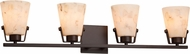 Justice Design ALR-8484 Alabaster Rocks! Nexus Modern 4-Light Vanity Lighting