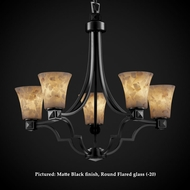 Justice Design ALR-8500 Argyle Transitional Alabaster 27 Inch Diameter 5 Light Hanging Chandelier