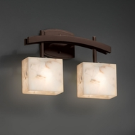Justice Design ALR-8592 Archway Alabaster Rocks! 2-Light Bathroom Light