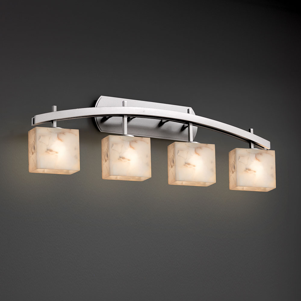 Justice Design Alr 8594 Archway Alabaster Rocks 4 Light Bathroom Lighting Fixture Jus