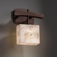 Justice Design ALR-8597 Archway Alabaster Rocks! ADA Compliant Light Sconce