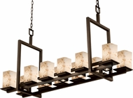 Justice Design ALR-8620-15 Alabaster Rocks! Montana Contemporary Square Kitchen Island Light