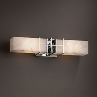 Justice Design ALR-8642 Structure Alabaster Rocks! 2-Light Bath Lighting Fixture