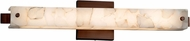 Justice Design ALR-8681 Alabaster Rocks! Edge Contemporary LED 23  Bathroom Sconce