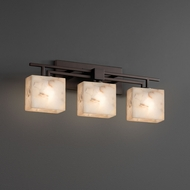 Justice Design ALR-8703 Aero Alabaster Rocks! 3-Light Bathroom Light Fixture