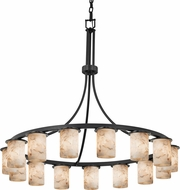 Justice Design ALR-8735-10 Alabaster Rocks! Dakota Contemporary Lighting Chandelier