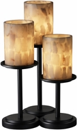 Justice Design ALR-8797-10 Alabaster Rocks! Dakota Contemporary Cylinder Table Lamp