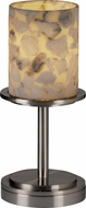 Justice Design ALR-8798-10 Alabaster Rocks! Dakota Modern Cylinder Table Light