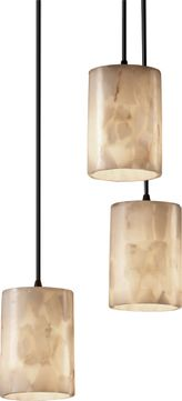 Justice Design ALR-8818-10 Alabaster Rocks! Pendants Contemporary Multi Hanging Pendant Lighting