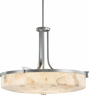 Justice Design ALR-8982 Alabaster Rocks! Era Modern Hanging Light