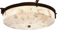 Justice Design ALR-8985 Alabaster Rocks! Era Contemporary Ceiling Light Fixture