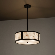 Justice Design ALR-9541 Tribeca Alabaster Rocks! Drum Pendant Lighting