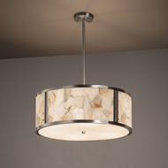 Justice Design ALR-9542 Tribeca Alabaster Rocks! Drum Pendant Light