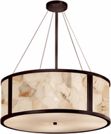 Justice Design ALR-9544 Alabaster Rocks! Tribeca Modern 36  Drum Pendant Lighting