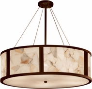 Justice Design ALR-9547 Alabaster Rocks! Tribeca Contemporary 48  Drum Pendant Light