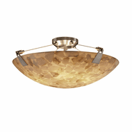 Justice Design ALR-9632-35 Alabaster Rocks! Tapered Clips Contemporary Flush Mount Light Fixture