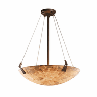 Justice Design ALR-9641-35 Alabaster Rocks! Tapered Clips Contemporary Hanging Pendant Lighting