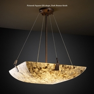Justice Design ALR-9642 Tapered Clips Small 27 Inch Wide Pendant Lamp - Alabaster