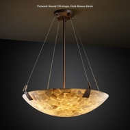 Justice Design ALR-9647 Tapered Clips Large 51 Alabaster Glass Transitional Pendant Light - 51 Inches Wide