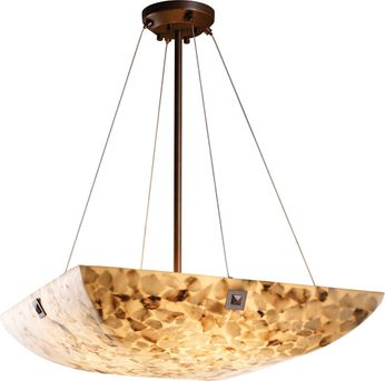 Justice Design ALR-9662-25 Alabaster Rocks! Finials Contemporary Hanging Pendant Light