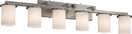 Justice Design ALR851610 Rondo Cylinder Shade Contemporary Six-Light Bathroom Lighting