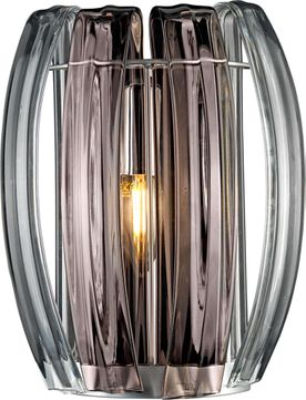 Justice Design BOH-6041-CLSM-CROM Bohemia Aplique Contemporary Polished Chrome LED Wall Sconce Lighting