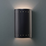 Justice Design CER-0995 Ambiance Small Cylinder Contemporary Ceramic LED Wall Sconce Lighting