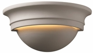 Justice Design CER-1015 Ambiance Small Cyma Half-Round Ceramic LED Wall Lighting Sconce