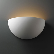 Justice Design CER-1100 Ambiance Quarter Sphere Contemporary Ceramic LED Wall Sconce Lighting