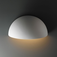 Justice Design CER-1100W Ambiance Quarter Sphere Contemporary Ceramic LED Outdoor Wall Mounted Lamp