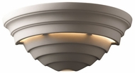 Justice Design CER-1155 Ambiance Supreme Contemporary Ceramic LED Wall Sconce Light