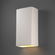 Justice Design CER-1170W Ambiance Rectangle Contemporary Ceramic LED Outdoor Lighting Sconce