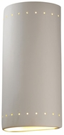 Justice Design CER-1190 Ambiance Cylinder Modern Ceramic LED Wall Mounted Lamp